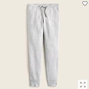 J Crew Jogger pant in cotton-cashmere AU519
